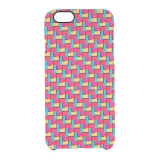 Motif de zigzag élégant multicolore coque iPhone 6/6S