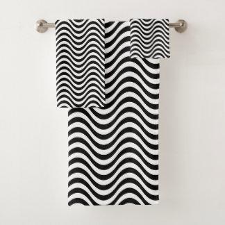 Motif de zigzag noir contemporain moderne