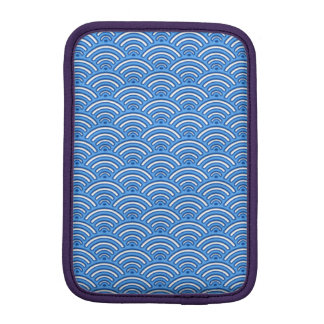 Motif d'échelles de bleu housse iPad mini