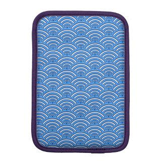 Motif d'échelles de bleu housses pour iPad mini
