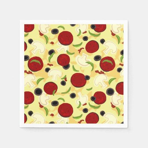 Motif d 39 crimages de pizza serviette en papier zazzle - Serviette en papier motif ...