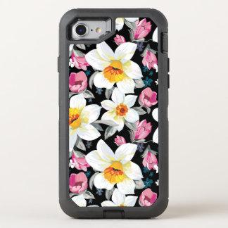 Motif d'élégance avec des fleurs de narcisse coque otterbox defender pour iPhone 7