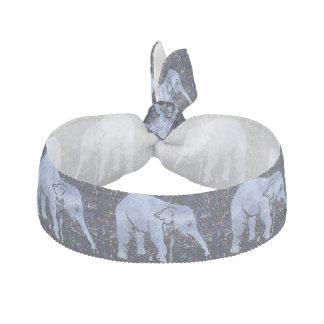 Motif d'éléphants élastiques pour cheveux