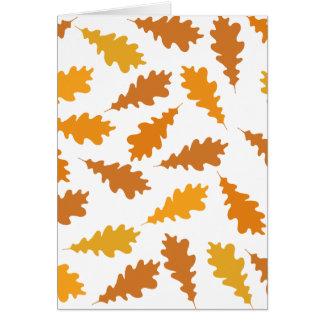 Motif des feuilles d'automne carte