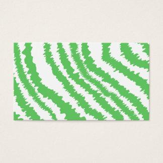 Motif des rayures vertes onduleuses carte de visite standard