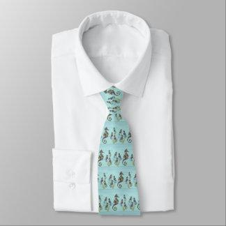 Motif d'hippocampe cravate