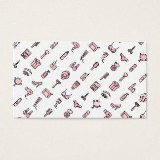 Motif d'icône de rose de salon de beauté de cartes de visite