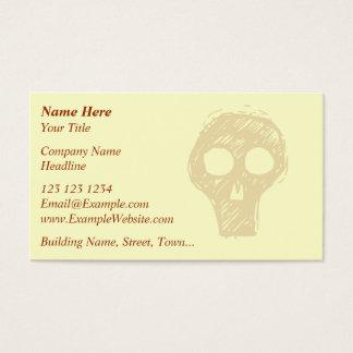 Motif d'illustration de crâne carte de visite standard