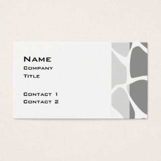 Motif d'impression de girafe dans le gris cartes de visite