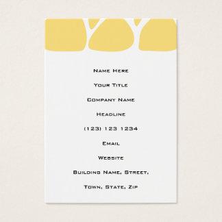 Motif d'impression de girafe en jaune cartes de visite