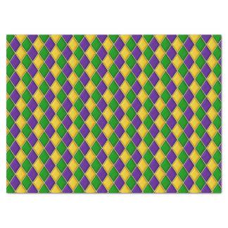 Motif d'impression de harlequin de diamants de papier mousseline