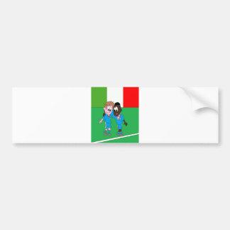 Motif drapeaux Italie et joueurs italiens Autocollant De Voiture