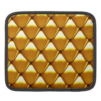Motif élégant d'échelle d'or poches pour iPad