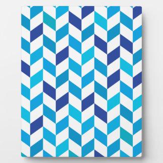 Motif en arête de poisson bleu d'Aqua Plaques D'affichage
