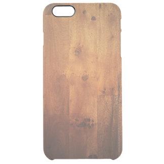 Motif en bois de regard de fibre de bois en bois coque iPhone 6 plus