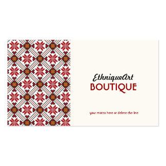 Motif ethnique d'amour carte de visite standard