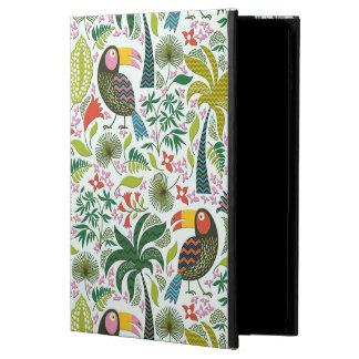 Motif exotique coloré d'oiseaux et de fleurs coque powis iPad air 2