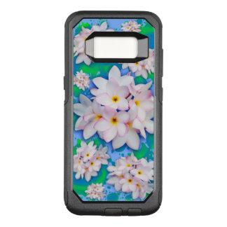 Motif exotique d'été de bouquet de Plumeria Coque Samsung Galaxy S8 Par OtterBox Commuter