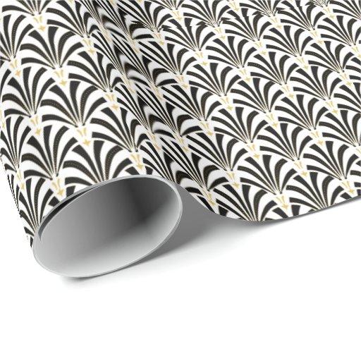 motif fait sur commande de fans d 39 art d co papier cadeau no l zazzle. Black Bedroom Furniture Sets. Home Design Ideas