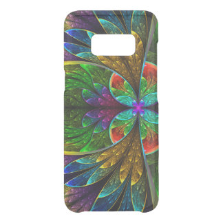 Motif floral abstrait en verre souillé coque get uncommon samsung galaxy s8