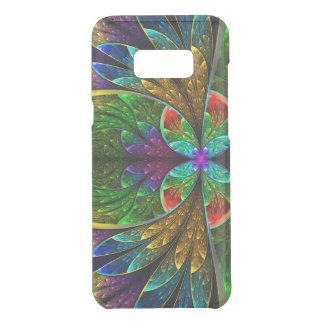 Motif floral abstrait en verre souillé coquer get uncommon samsung galaxy s8 plus