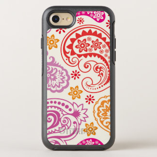 Motif floral coloré drôle de Paisley Coque OtterBox Symmetry iPhone 8/7