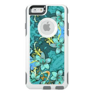 Motif floral d'aquarelle de lux lunatique élégant coque OtterBox iPhone 6/6s
