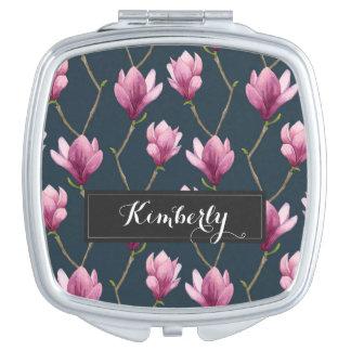 Motif floral d'aquarelle de magnolia