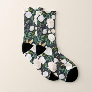 Motif floral d'aquarelle de neutre et de verdure
