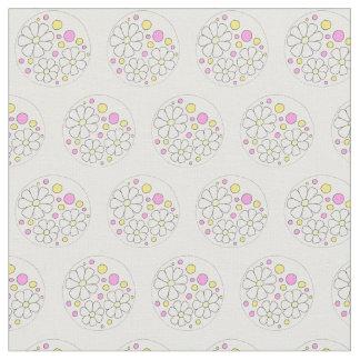 Motif floral de marguerite de marguerites modernes tissu