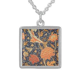 Motif floral de Nouveau d'art de William Morris Collier En Argent