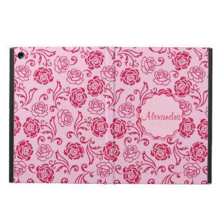 Motif floral de trellis des roses de thé sur le étui iPad air