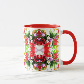 Motif floral de tulipes mug