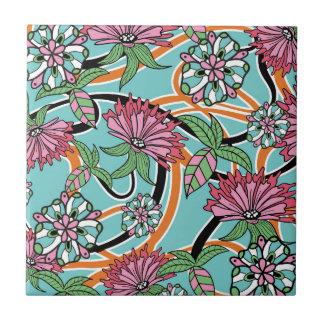 motif floral d'été heureux carreau