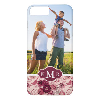Motif floral fait sur commande de photo et de coque iPhone 7 plus