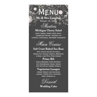 Motif floral gris/blanc - menu de réception