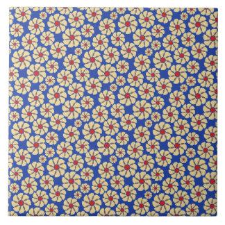 Motif floral illustré carreau