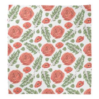Motif floral illustré de roses bandanas