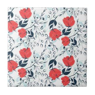 Motif floral moderne et élégant carreau