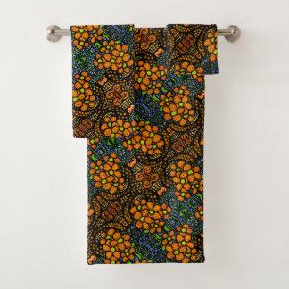 Motif floral orange lunatique