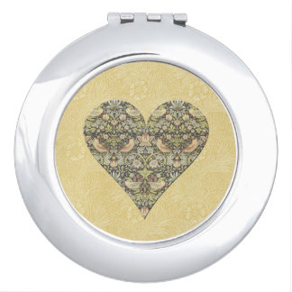 Motif floral par William Morris - miroir compact