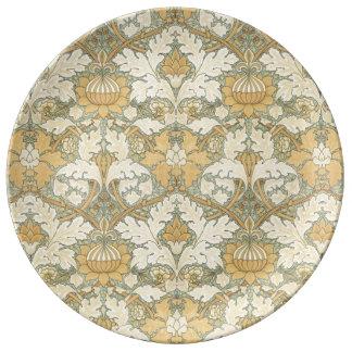Motif floral par William Morris - plat de Assiette En Porcelaine