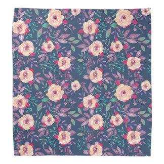 Motif floral pourpre et bleu rose bandanas
