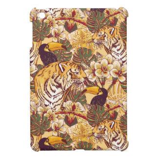 Motif floral tropical avec le tigre étui iPad mini