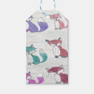 Motif génial de renards étiquettes-cadeau