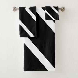 Motif géométrique abstrait - noir et blanc.