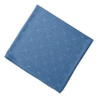 Motif géométrique entrecroisé bleu subtil foulard