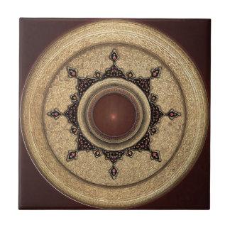 Motif géométrique et floral traditionnel carreau