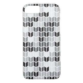 Motif géométrique gris coque iPhone 7