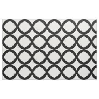Motif géométrique noir et blanc de formes tissu